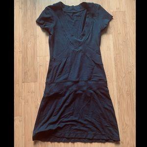 Lululemon Dance Pulse Short Sleeve Dress in Black